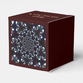 diseño azul abstracto elegante cajas para regalos