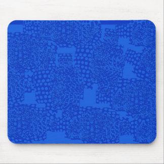 Diseño azul abstracto tapete de ratón