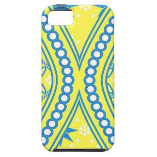 Diseño azul amarillo del reloj de arena, productos iPhone 5 Case-Mate coberturas