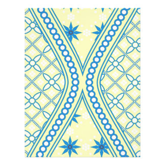 Diseño azul amarillo del reloj de arena, productos membretes personalizados