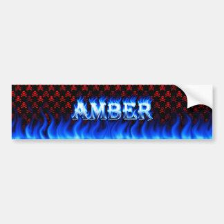 Diseño azul ambarino de la pegatina para el parach pegatina para auto