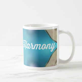 Diseño azul armonioso masculino femenino del zen taza de café