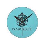 Diseño azul bonito de Ganesh Namaste Reloj