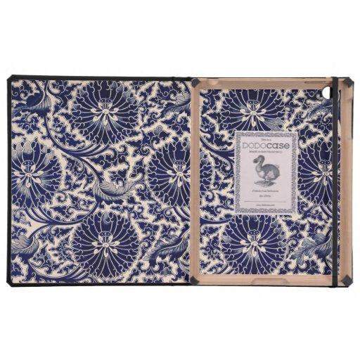 Diseño azul bonito iPad cárcasa