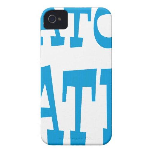 Diseño azul claro del enemigo del cocodrilo Case-Mate iPhone 4 cárcasa