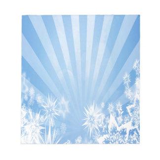Diseño azul claro del resplandor solar de los blocs de notas