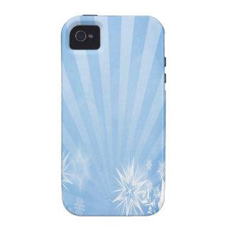 Diseño azul claro del resplandor solar de los vibe iPhone 4 fundas