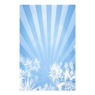 Diseño azul claro del resplandor solar de los papeleria personalizada