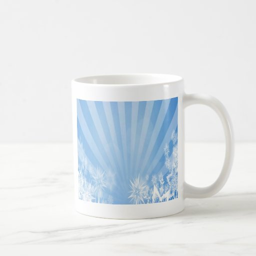 Diseño azul claro del resplandor solar de los tazas