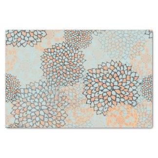 Diseño azul claro y del moreno de la flor de la papel de seda pequeño