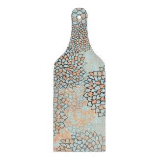 Diseño azul claro y del moreno de la flor de la tabla para cortar