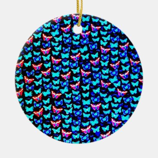 Diseño azul colorido impresionante del arte de las adorno redondo de cerámica