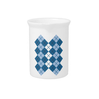 Diseño azul de Argyle Jarras Para Bebida