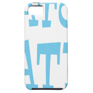 Diseño azul de Carolina del enemigo del cocodrilo iPhone 5 Case-Mate Funda