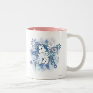 Diseño azul de la acuarela taza de café