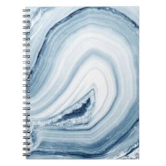 Diseño azul de la ágata libro de apuntes