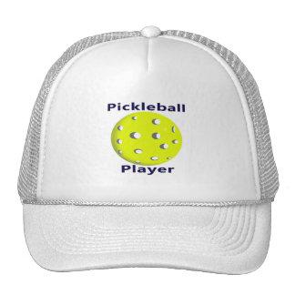 Diseño azul de la bola del amarillo del texto del gorras
