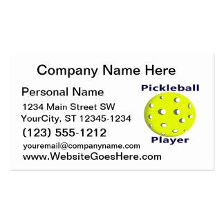 Diseño azul de la bola del amarillo del texto del  tarjeta personal