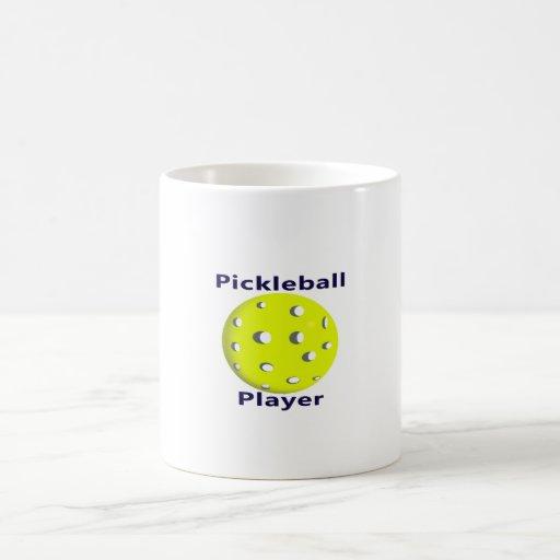Diseño azul de la bola del amarillo del texto del  tazas de café
