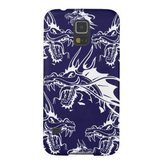 Diseño azul de la fantasía de la criatura mítica carcasa para galaxy s5