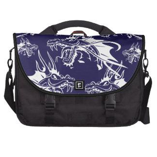 Diseño azul de la fantasía de la criatura mítica d bolsas de ordenador