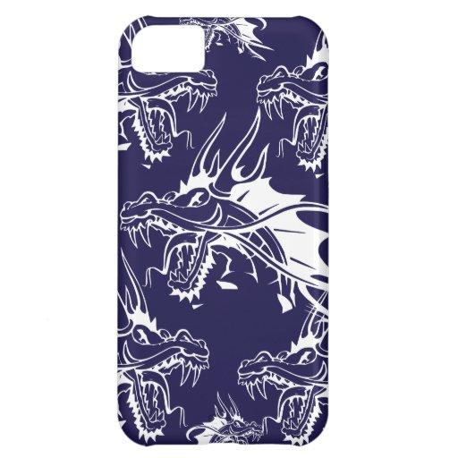 Diseño azul de la fantasía de la criatura mítica d funda para iPhone 5C