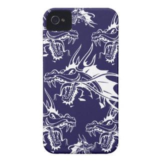 Diseño azul de la fantasía de la criatura mítica d Case-Mate iPhone 4 fundas