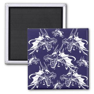Diseño azul de la fantasía de la criatura mítica d imanes de nevera