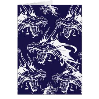 Diseño azul de la fantasía de la criatura mítica tarjeta de felicitación