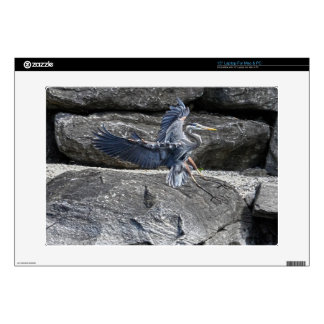 Diseño azul de la fauna del pájaro que vadea de la calcomanías para portátiles