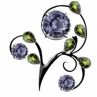 Diseño azul de la gema esculturas fotográficas