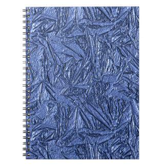 Diseño azul de la hoja libretas espirales