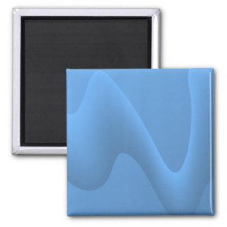 Diseño azul de la imagen del extracto de la onda imán cuadrado