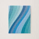 Diseño azul de la onda rompecabezas