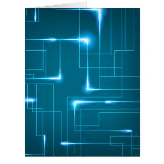Diseño azul de la placa de circuito tarjeta de felicitación grande