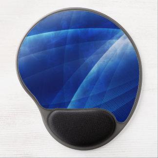 Diseño azul de la raya alfombrilla de raton con gel