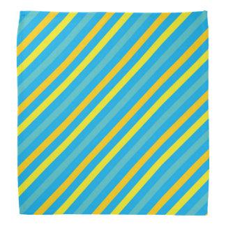Diseño azul de la raya diagonal multi bandanas
