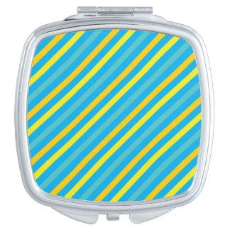 Diseño azul de la raya diagonal multi espejos de viaje