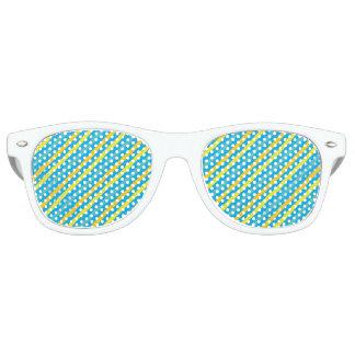 Diseño azul de la raya diagonal multi lentes de sol