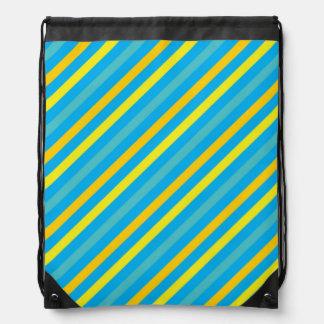 Diseño azul de la raya diagonal multi mochilas