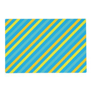 Diseño azul de la raya diagonal multi tapete individual