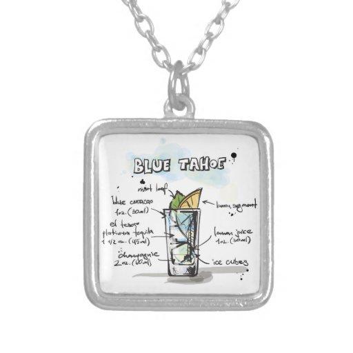 Diseño azul de la receta de la bebida de Tahoe Grimpola