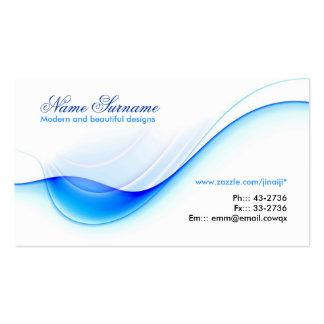 diseño azul de la tarjeta de visita de la onda