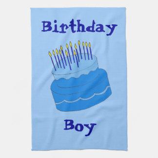 Diseño azul de la torta del muchacho del cumpleaño