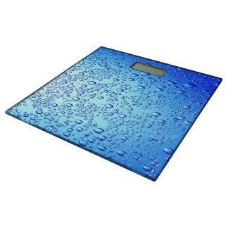 Diseño azul de las burbujas para la Cuarto de Báscula