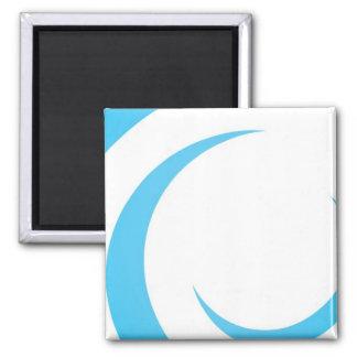 Diseño azul de las curvas imán cuadrado