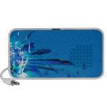 Diseño azul de las flores altavoces
