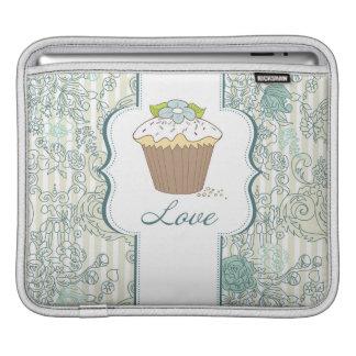 Diseño azul de las magdalenas del amor funda para iPads