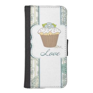 Diseño azul de las magdalenas del amor funda tipo cartera para iPhone 5
