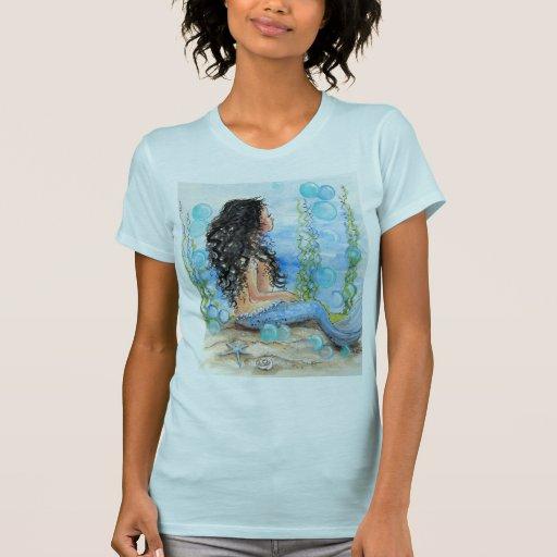 Diseño azul de little mermaid playeras